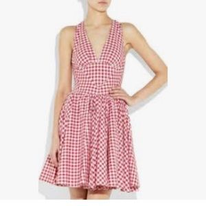 D&G cotton red gingham crossback dress.